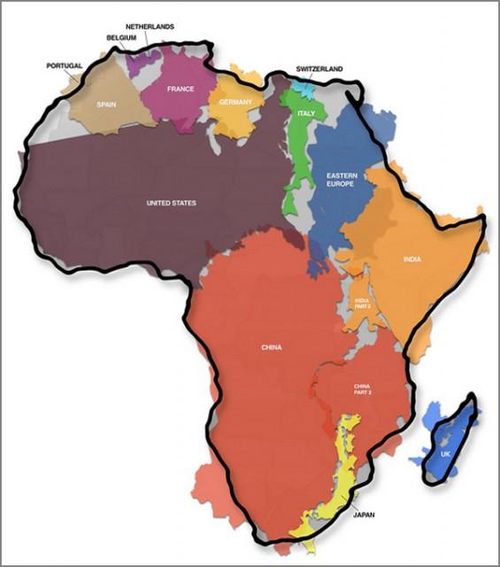 Karta Afrika 1