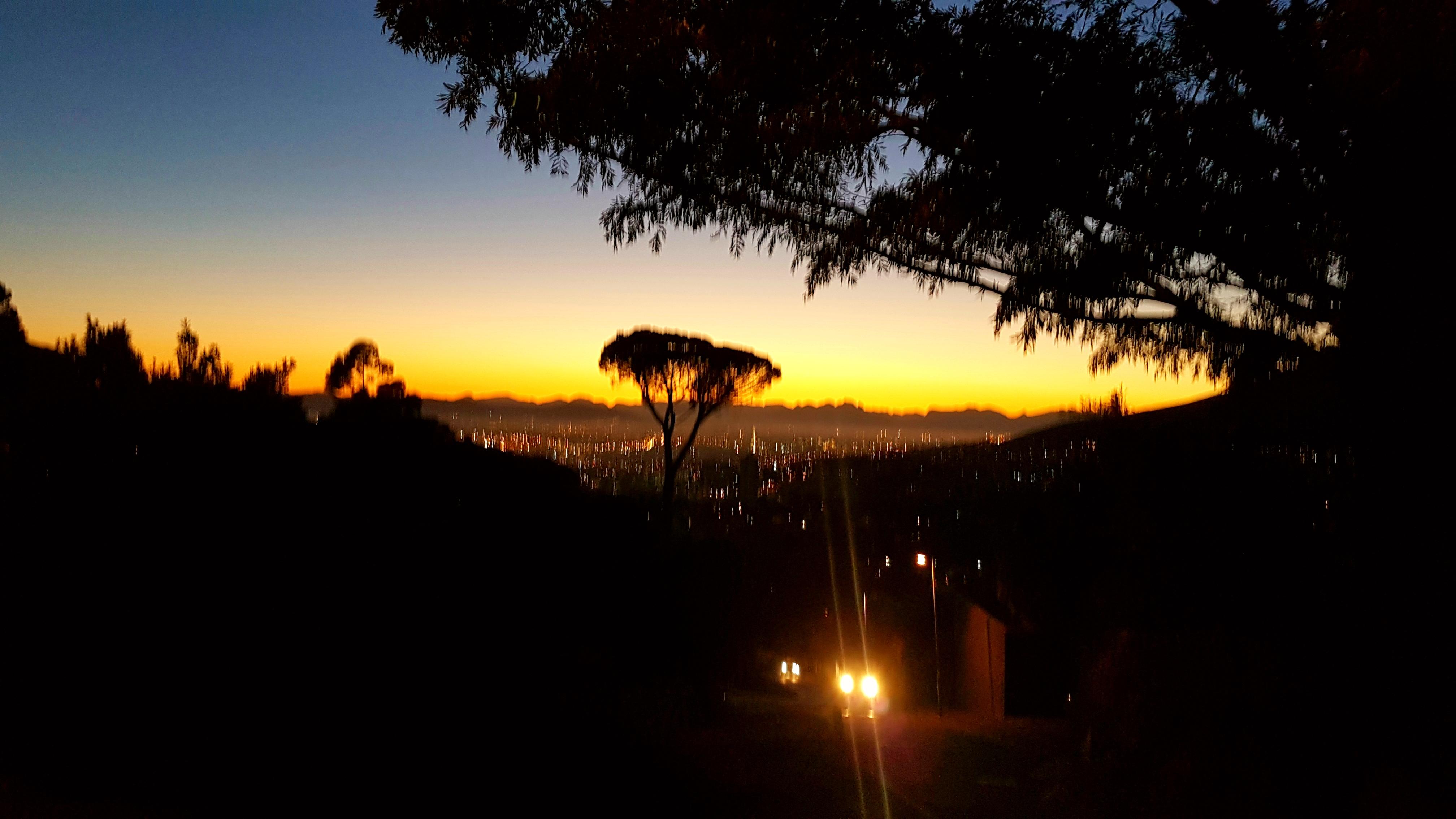 Soluppgång Kapstaden