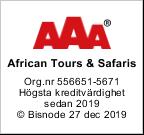 African Tours & Safaris AAA rating